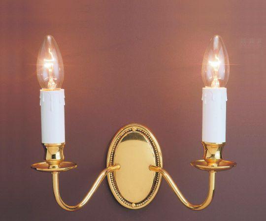 Impex Lighting - Georgian 2lt Polished Brass