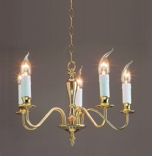 Impex Lighting - Georgian 5lt Polished Brass