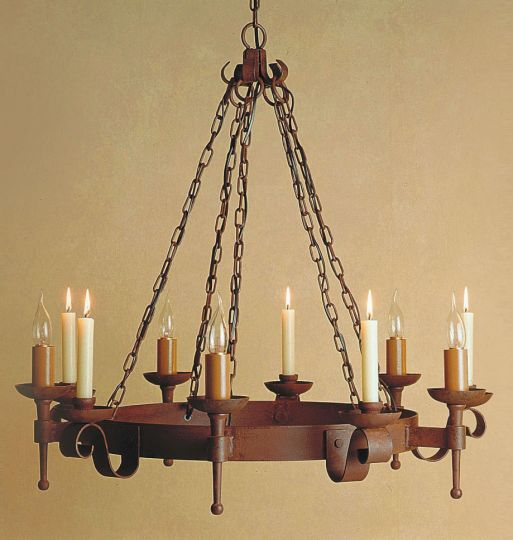 Impex Lighting - Refectory 5lt/5 candle Aged