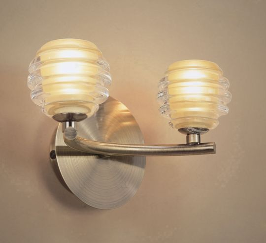 Mantra M8010 Sphere Wall Lamp Switched 2 Light G9 Antique Brass