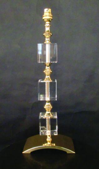 Impex ST0000B/TL/G Boston  Series Decorative 1 Light Gold Table Lamp
