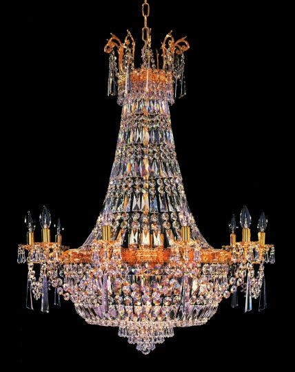 Impex Lighting - EMPIRE LEAD CRYSTAL CHANDELIER