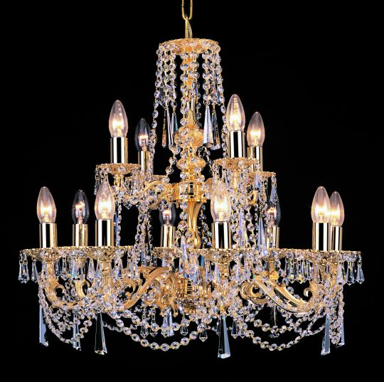 Impex Lighting - GOLD PLATED CAST CHAND STRASS TRIM