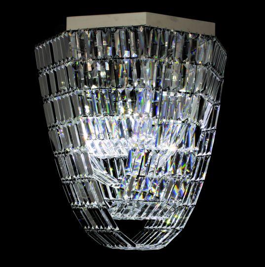 Impex ST005048-OCT-CH Crystal Art Series Decorative 8 Light Chrome Ceiling Light