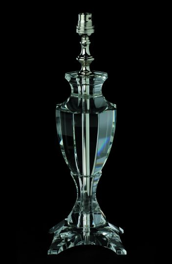 Impex Lighting - OPTICAL GLASS TABLE LAMP NICKEL