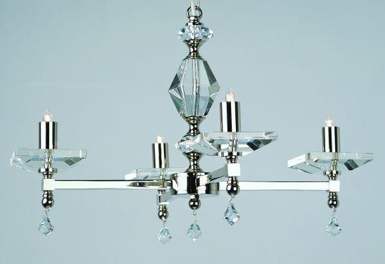 Impex STH04054/04/N Capri  Series Decorative 4 Light Nickel Ceiling Light