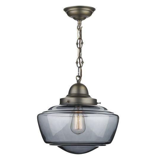 David Hunt Lighting STO0110 Stowe 1 Light Smoked Glass Pendant