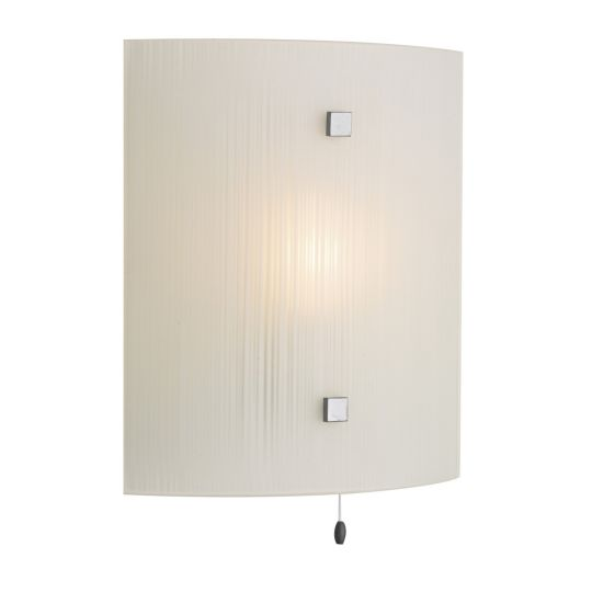 DAR Lighting - SWIRL WALL LIGHT SQUARE COMES WITH WHITE GLASS