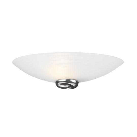 DAR Lighting - SWIRL WALL WASHER PEWTER COMES WITH GLASS