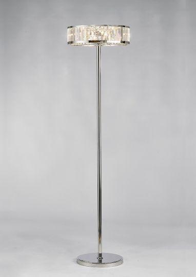 Diyas IL30177 Torre Floor Lamp 5 Light Polished Chrome/Crystal