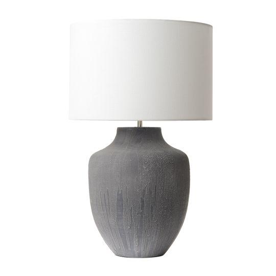 Dar Lighting Udine Table Lamp Grey Base Only UDI4239