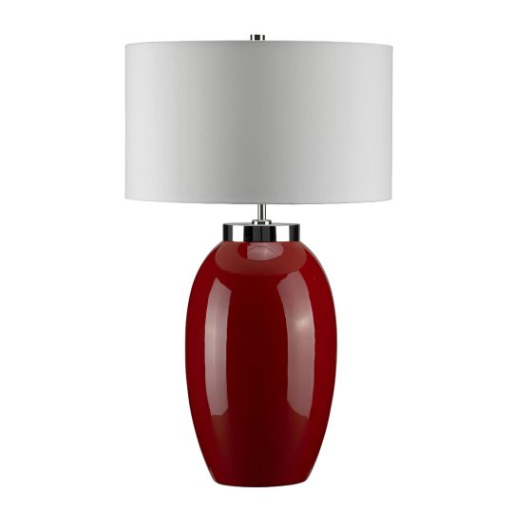 Elstead Lighting Victor 1 Light Large Table Lamp - Red VICTOR-LRG-TL-RD