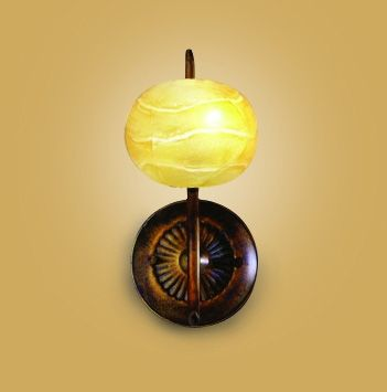 Mantra M38006 Wave Wall Lamp 1 Light G9 Rustic Gold