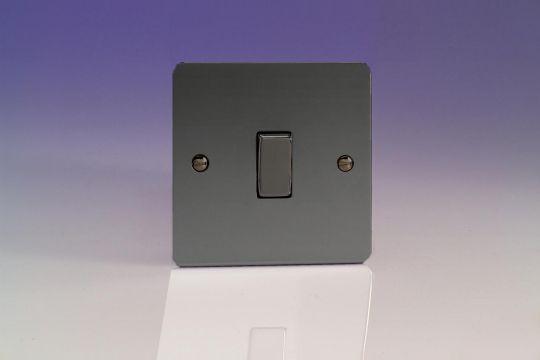 VARILIGHT Lighting - 1 GANG (SINGLE), 1 OR 2 WAY 10 AMP SWITCH ULTRA FLAT IRIDIUM BLACK - XFI1D