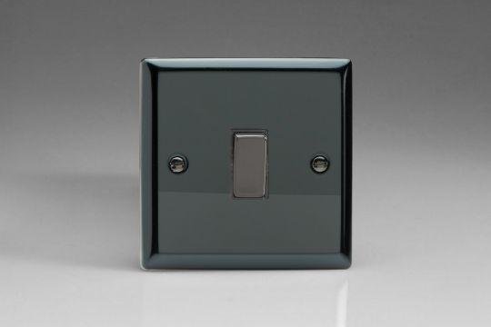VARILIGHT Lighting - 1 GANG (SINGLE), 1 WAY 20 AMP SWITCH IRIDIUM BLACK - XI20D