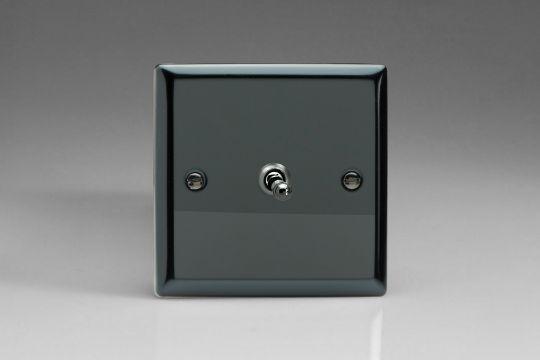 VARILIGHT Lighting - 1 GANG (SINGLE), 1 OR 2 WAY 10 AMP CLASSIC TOGGLE SWITCH IRIDIUM BLACK - XIT1
