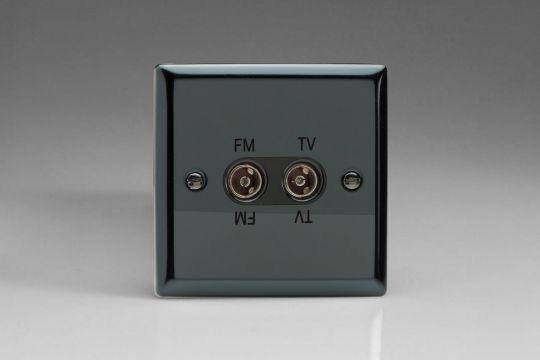 VARILIGHT Lighting - IRIDIUM BLACK ISOLATED TV AND FM WITH BLACK INSERT - XITVFMB