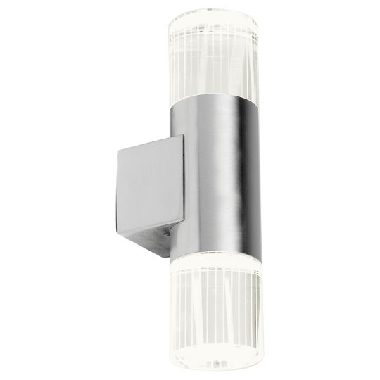 Endon Lighting Grant Polished Stainless Steel & Clear Crystal 2 Light Outdoor Wall Light YG-7501