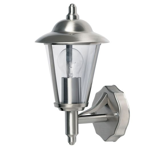 Endon Yg-862-Ss - Klien Uplight 1Lt Wall Ip44 60W Polished Stainless Steel And Clear Pc Outdoor Wall Light