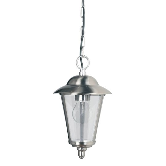 Endon Yg-865-Ss - Klien 1Lt Pendant Ip44 60W Polished Stainless Steel And Clear Pc Outdoor Pendant Light