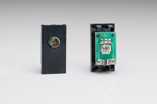 VARILIGHT Lighting - PAL COAX MALE MODULE IN BLACK. USE WITH DATA GRID PLATES - Z2G8MB