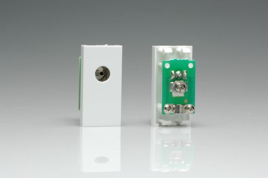 VARILIGHT Lighting - PAL COAX FEMALE MODULE IN WHITE. USE WITH DATA GRID PLATES - Z2G8W